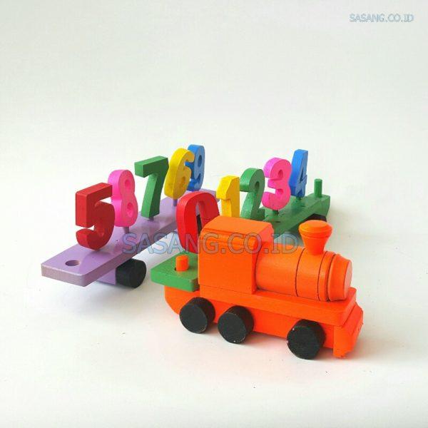 Mainan Kereta Balok Angka Alat Peraga Edukatif Untuk Anak Paud TK Sasang.Co.Id