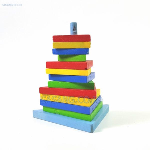 Jual Mainan Anak-Anak Menara Segitiga Geometri Murah Grosir Di Toko Alat Peraga Edukatif Sasang.Co.Id