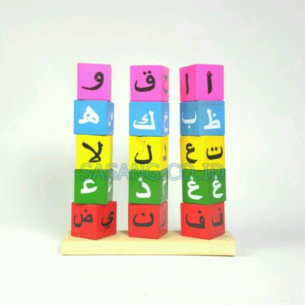 Mainan Anak Model Menara Hijaiyah Murah Grosir Toko Alat Peraga Edukatif Sasang.Co.Id