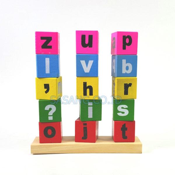 Jual Mainan Edukasi Anak Menara Alphabet Di Toko Alat Peraga Edukatif Untuk Pendidikan Grosir Sasang.Co.Id