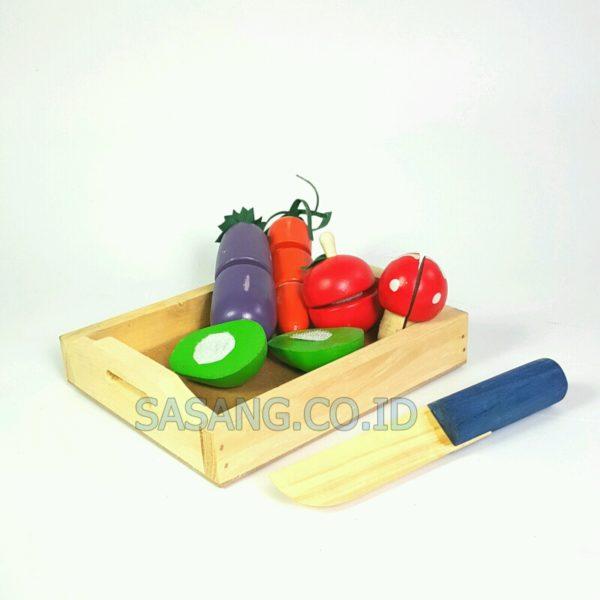Mainan Anak Sayuran Potong Di Toko Grosir Alat Peraga Edukatif Murah Sasang.CO.ID