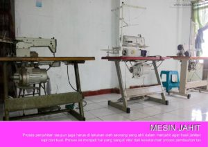 Mesin Jahit Di Pabrik Produsen Tas Refreshop