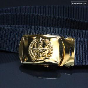 Gesper TNI Sabuk Kuningan Scroll Grendel Atau Roll