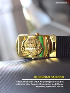 Sabuk Korpri Model Slorok di Refreshop